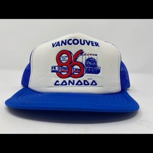 VTG 1986 Vancouver Canada expo 86 trucker hat